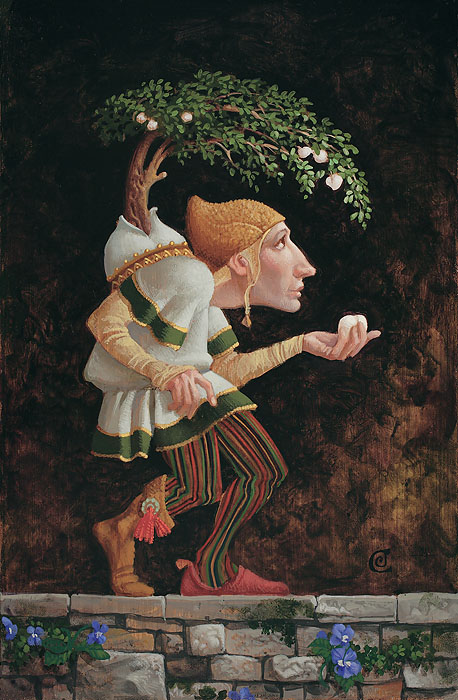 James C. Christensen - The Fruits of Adversity -  SMALLWORK CANVAS EDITION Published by the Greenwich Workshop