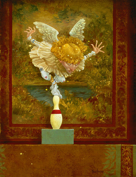 James C. Christensen - How Many Angels Can Dance on the Head of a Pin -  LIMITED EDITION CANVAS Published by the Greenwich Workshop