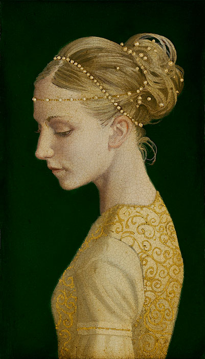 James C. Christensen - Betrothed -  SMALLWORKS EDITION CANVAS Published by the Greenwich Workshop