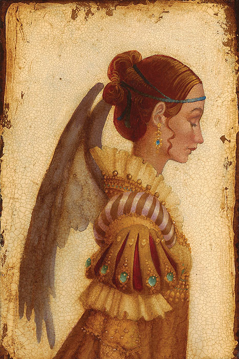 James C. Christensen - Portrait of Isabella Grimaldi as an Angel -  LIMITED EDITION CANVAS Published by the Greenwich Workshop