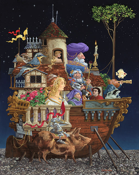 James C. Christensen - Interrupted Voyage -  LIMITED EDITION CANVAS Published by the Greenwich Workshop