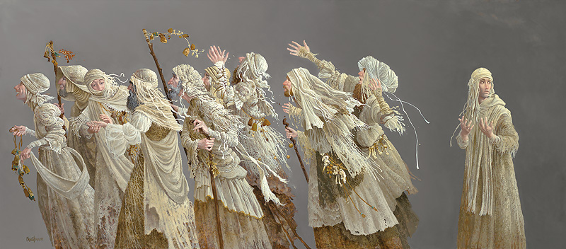 James C. Christensen - Ten Lepers -  MUSEUMEDITION CANVAS Published by the Greenwich Workshop