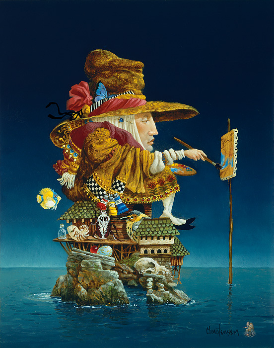 James C. Christensen - Artist´s Island -  LIMITED EDITION CANVAS Published by the Greenwich Workshop