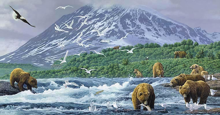 Simon Combes - ABSOLUTE ALASKA -  LIMITED EDITION CANVAS Published by the Greenwich Workshop