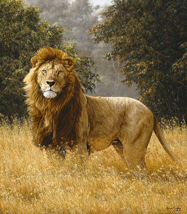 Simon Combes - Simba -  ANNIVERSARY CANVAS Published by the Greenwich Workshop