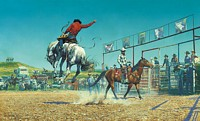THEM'S A BUNCH-A-BRONC STOMP'N SUNFIS&lt;br&gt; LIMITED EDITION PRINT
