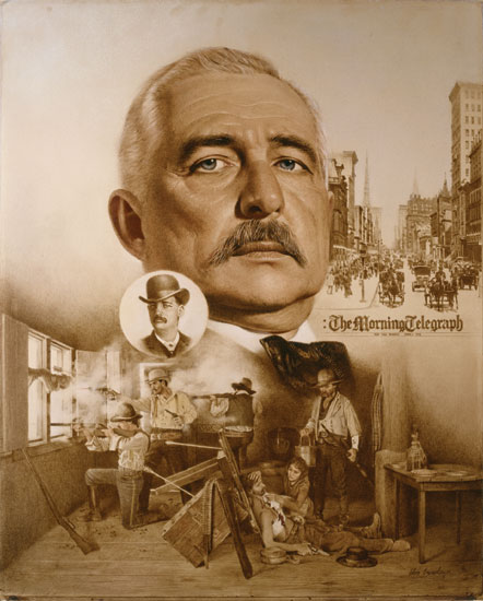 Don Crowley - Bat Masterson: Two Worlds of Bat Masterson -  LIMITED EDITION CANVAS Published by the Greenwich Workshop