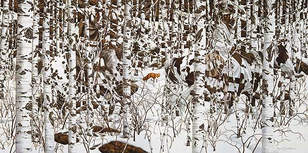 Bev Doolittle - WOODLAND ENCOUNTER -  LIMITED EDITION PRINT Published by the Greenwich Workshop