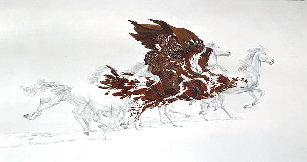 Bev Doolittle - EAGLE´S FLIGHT -  LIMITED EDITION PRINT Published by the Greenwich Workshop