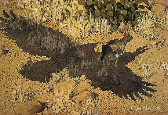 Bev Doolittle - ESCAPE BY A HARE -  LIMITED EDITION PRINT Published by the Greenwich Workshop