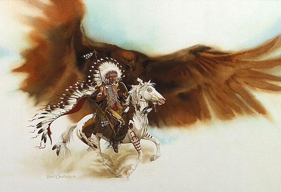 Bev Doolittle - RUSHING WAR EAGLE -  LIMITED EDITION PRINT Published by the Greenwich Workshop