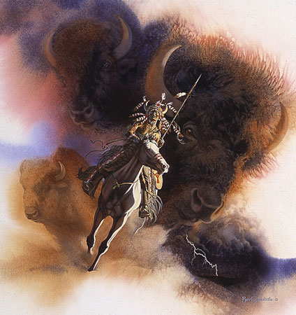 Bev Doolittle - RUNS WITH THUNDER -  LIMITED EDITION PRINT Published by the Greenwich Workshop