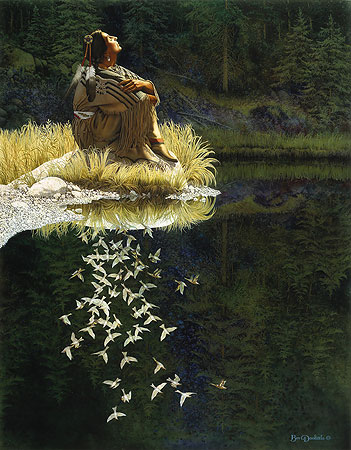 Bev Doolittle - LET MY SPIRIT SOAR -  LIMITED EDITION PRINT Published by the Greenwich Workshop