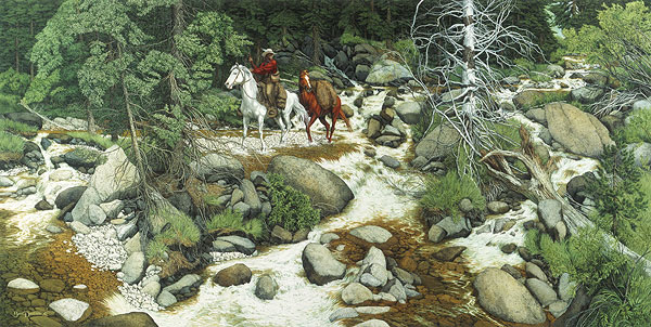 Bev Doolittle - THE FOREST HAS EYES -  LIMITED EDITION PRINT Published by the Greenwich Workshop