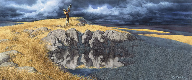 Bev Doolittle - CALLING THE BUFFALO -  LIMITED EDITION PRINT Published by the Greenwich Workshop