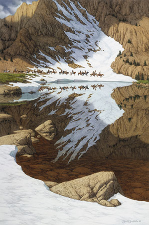 Bev Doolittle - SEASON OF THE EAGLE -  LIMITED EDITION PRINT Published by the Greenwich Workshop