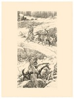 Shoshone Switchback&lt;br&gt; ORIGINAL STONE LITHOGRAPH