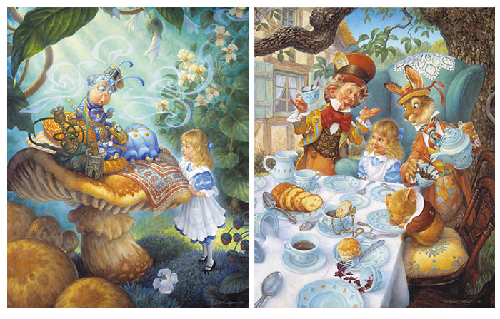 Scott Gustafson - THE ALICE IN WONDERLAND SUITE -  LIMITED EDITION PRINT Published by the Greenwich Workshop