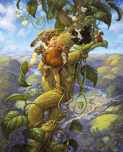 Scott Gustafson - JACK AND THE BEANSTALK -  LIMITED EDITION PRINT Published by the Greenwich Workshop