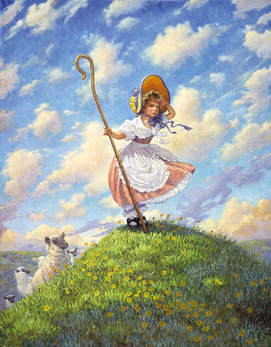 Scott Gustafson - LITTLE BO PEEP -  LIMITED EDITION PRINT Published by the Greenwich Workshop
