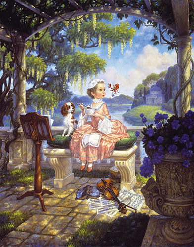 Scott Gustafson - LITTLE MISS MUFFET -  LIMITED EDITION PRINT Published by the Greenwich Workshop