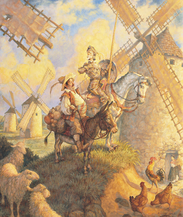 Scott Gustafson - DON QUIXOTE -  LIMITED EDITION PRINT Published by the Greenwich Workshop