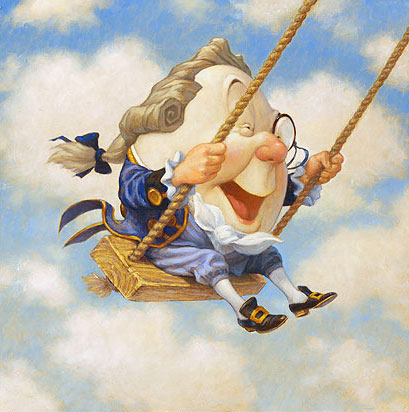 Scott Gustafson - Humpty Dumpty Sat on a Swing -  LIMITED EDITION CANVAS Published by the Greenwich Workshop