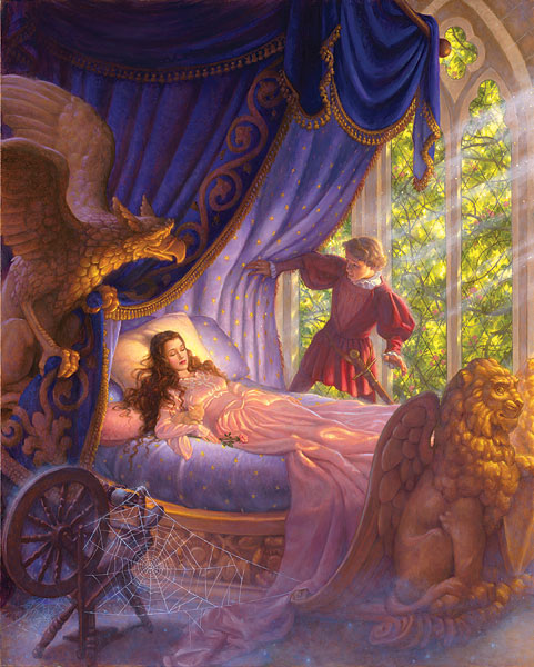 Scott Gustafson - Sleeping Beauty -  LIMITED EDITION CANVAS Published by the Greenwich Workshop