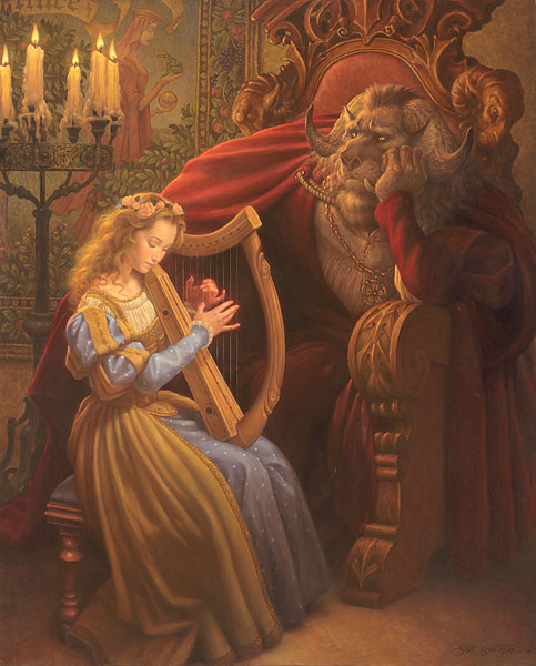 Scott Gustafson - Beauty and the Beast -  LIMITED EDITION CANVAS Published by the Greenwich Workshop