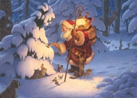 Woodland Santa&lt;br&gt; LIMITED EDITION CANVAS