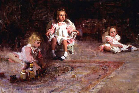 Nancy Guzik - THREE SISTERS -  LIMITED EDITION PRINT Published by the Greenwich Workshop