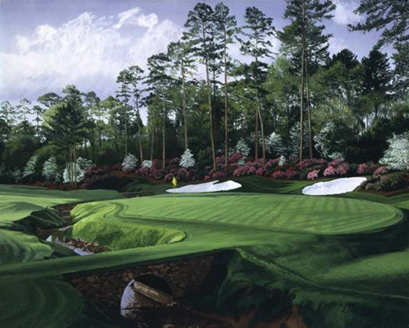 Linda Hartough - 13TH HOLE AUGUSTA NATIONAL GOLF CLUB -  LIMITED EDITION PRINT Published by the Greenwich Workshop