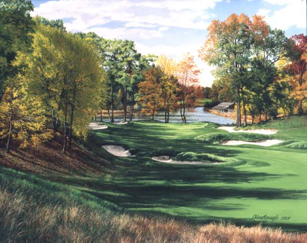 Linda Hartough - THE 3RD HOLE POND THE COUNTRY CLUB BR -  LIMITED EDITION PRINT Published by the Greenwich Workshop