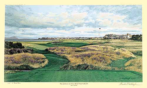 Linda Hartough - 17TH HOLE ROYAL DORNOCH -  LIMITED EDITION PRINT Published by the Greenwich Workshop