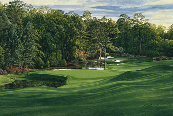Linda Hartough - THE 11TH HOLE AUGUSTA NATIONAL -  LIMITED EDITION PRINT Published by the Greenwich Workshop