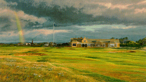 Linda Hartough - 18TH HOLE AT ROYAL TROON 1997 BRITISH -  LIMITED EDITION PRINT Published by the Greenwich Workshop