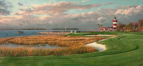 Linda Hartough - 18TH HOLE HARBOUR TOWN GOLF LINKS HILTON HEAD SOU -  L.E.PRINT Published by the Greenwich Workshop