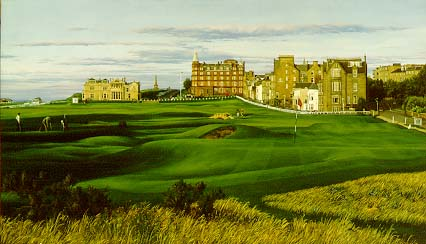 Linda Hartough - THE 17TH HOLE OF THE OLD COURSE THE -  LIMITED EDITION CANVAS Published by the Greenwich Workshop