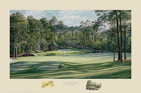 "Linda Hartough - THE 12TH HOLE ""GOLDEN BELL"" AUGUSTA NATIONAL GOL -  L.E. PRINT Published by the Greenwich Workshop"