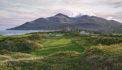 THE 9TH HOLE ROYAL COUNTY DOWN COUNTRY CLUB<br> L.E. PRINT