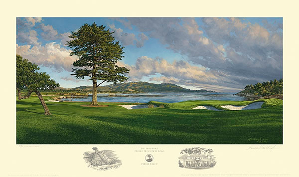 18th Hole, Pebble Beach Golf Links<br> LIMITED EDITION PRINT