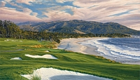 2010 U.S. Open Championship, The 9th Hole, Pebble Beach Golf Links<br> LIMITED EDITION CANVAS