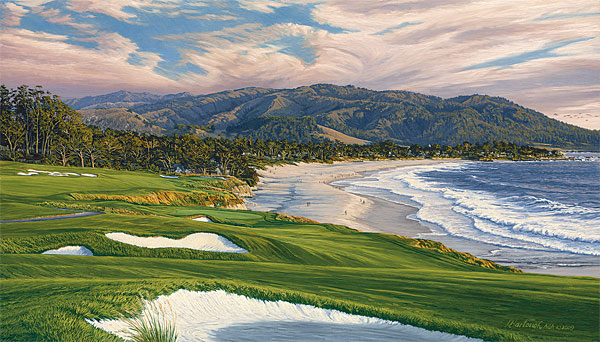 2010 U.S. Open Championship, The 9th Hole, Pebble Beach Golf Links<br> MUSEUMEDITION CANVAS