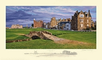 The Swilcan Bridge - The 18th Hole of the Old Course, St. Andrews Links<br> LIMITED EDITION PRINT