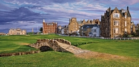The Swilcan Bridge - The 18th Hole of the Old Course, St. Andrews Links<br> MUSEUMEDITION CANVAS