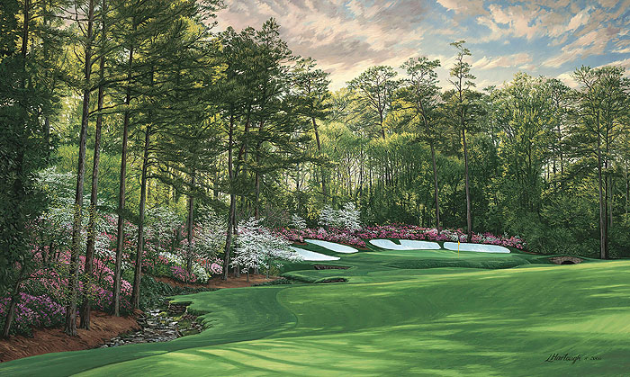 Linda Hartough - The 13th Hole 2008 Azalea Augusta National Golf Course -  LIMITED EDITION CANVAS Published by the Greenwich Workshop