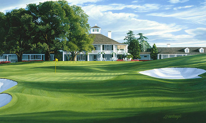 Linda Hartough - The 18th Hole Holly Augusta National Golf Course -  LIMITED EDITION CANVAS Published by the Greenwich Workshop