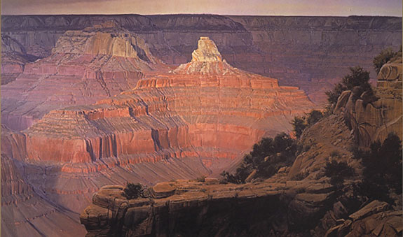 Wilson Hurley - EDGE OF WINTER GRAND CANYON -  LIMITED EDITION PRINT Published by the Greenwich Workshop