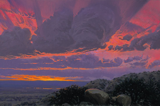 Wilson Hurley - LATE SUMMER SUNSET -  LIMITED EDITION PRINT Published by the Greenwich Workshop