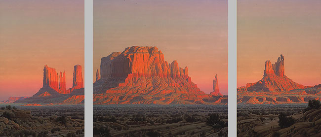 Wilson Hurley - THE UTAH SUITE-MONUMENT VALLEY -  LIMITED EDITION CANVAS Published by the Greenwich Workshop